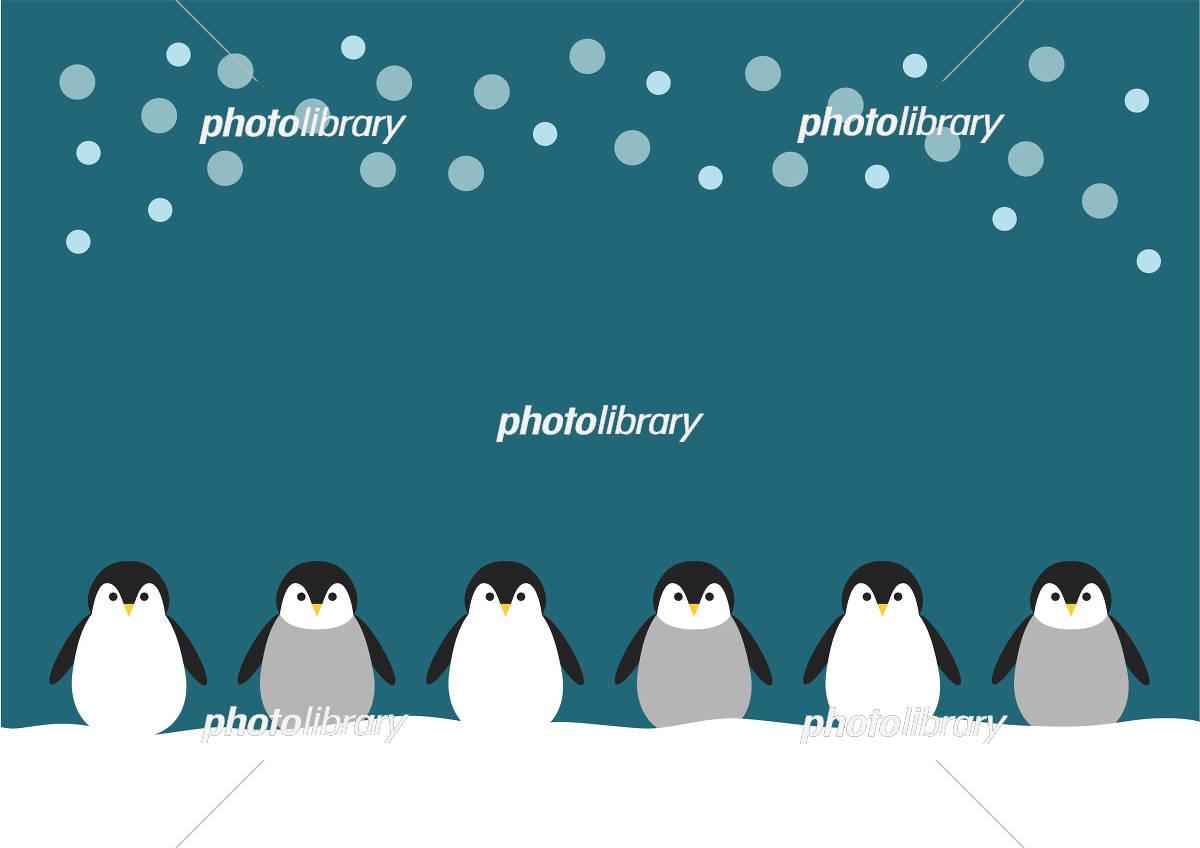 ペンギン イラスト 素材背景 イラスト素材 5093373 フォトライブ