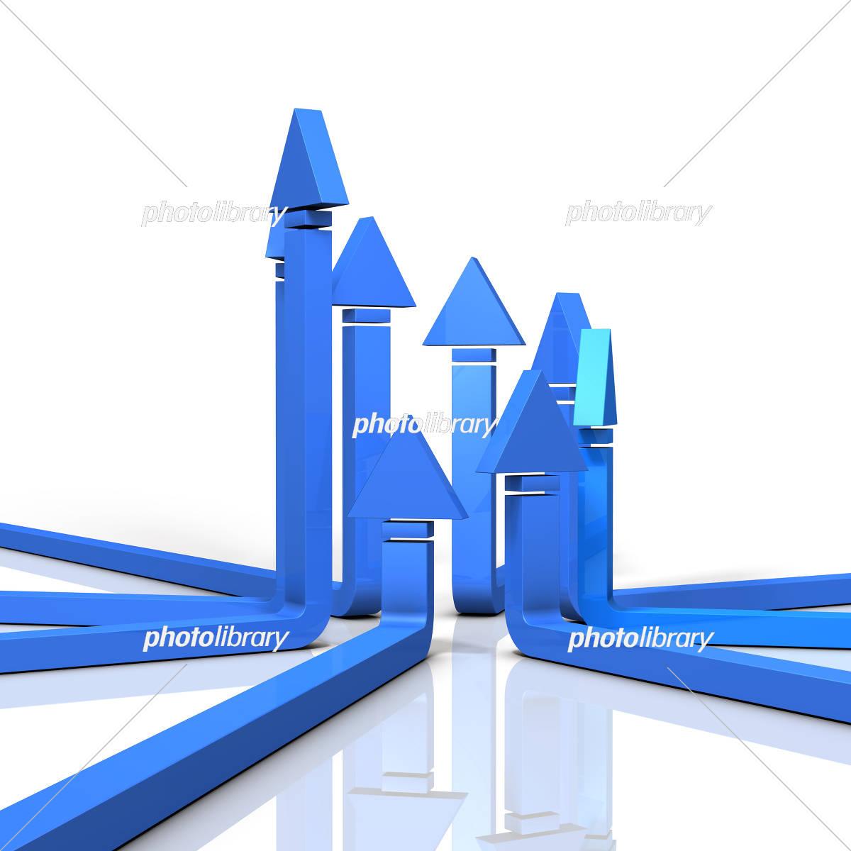 集結し上昇する矢印 イラスト素...