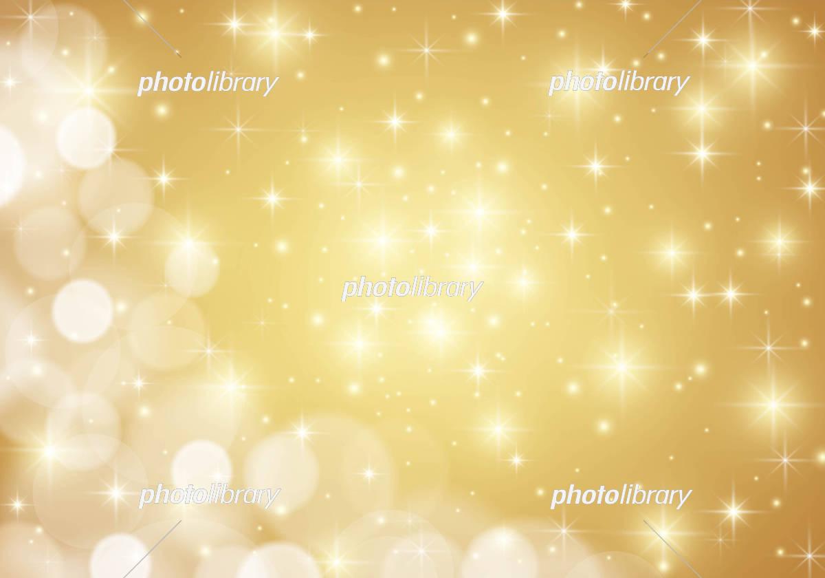 金 キラキラ星 背景 素材 イラスト素材 [ 5095229 ] - フォトライブ