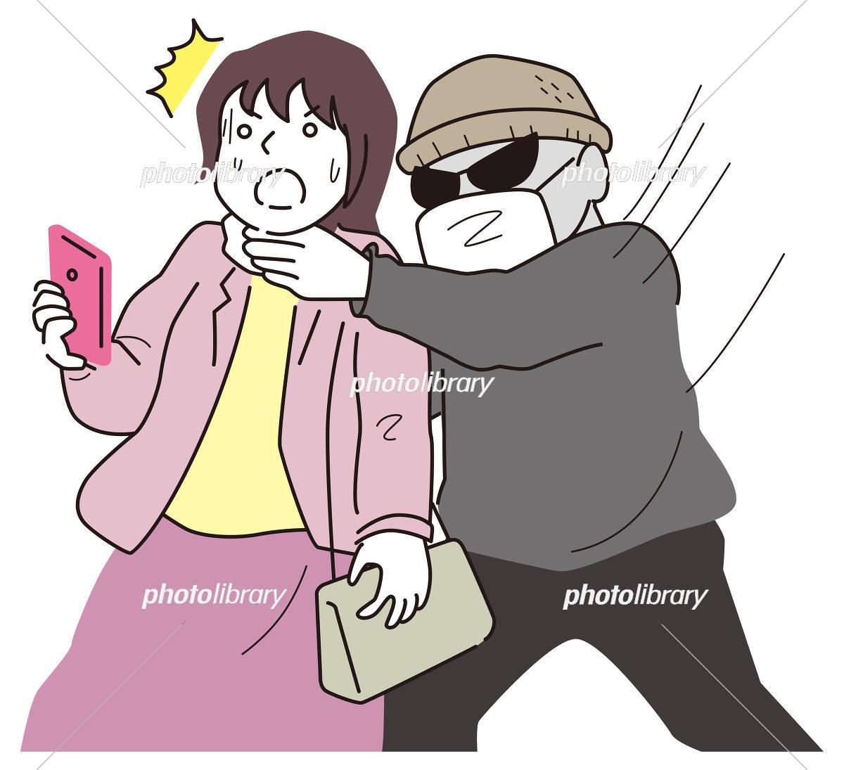 女性の首を締める悪党 イラスト素材 [ 5099287 ] - フォトライブラリー ...