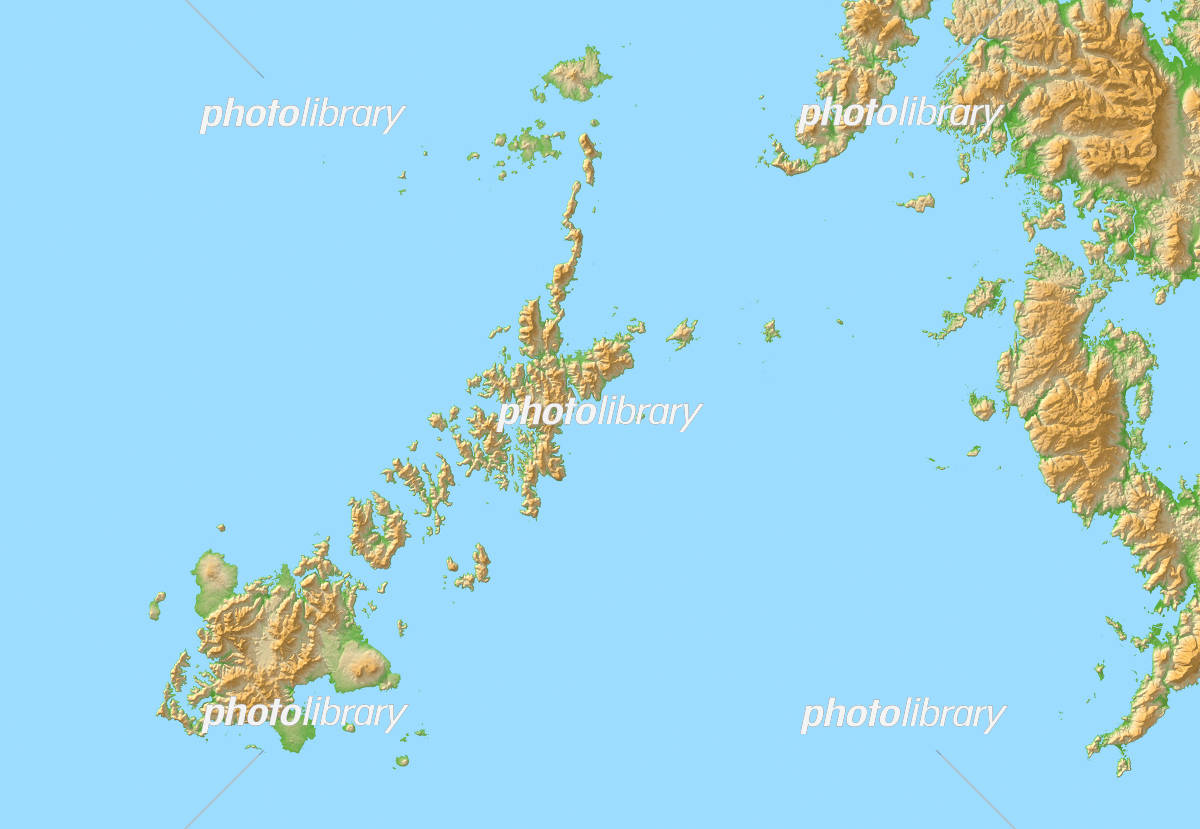 五島列島 地図 イラスト素材 [ 5...