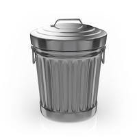 Tin-made trash box [5094015] garbage