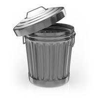 Tin-made trash box [5094017] garbage