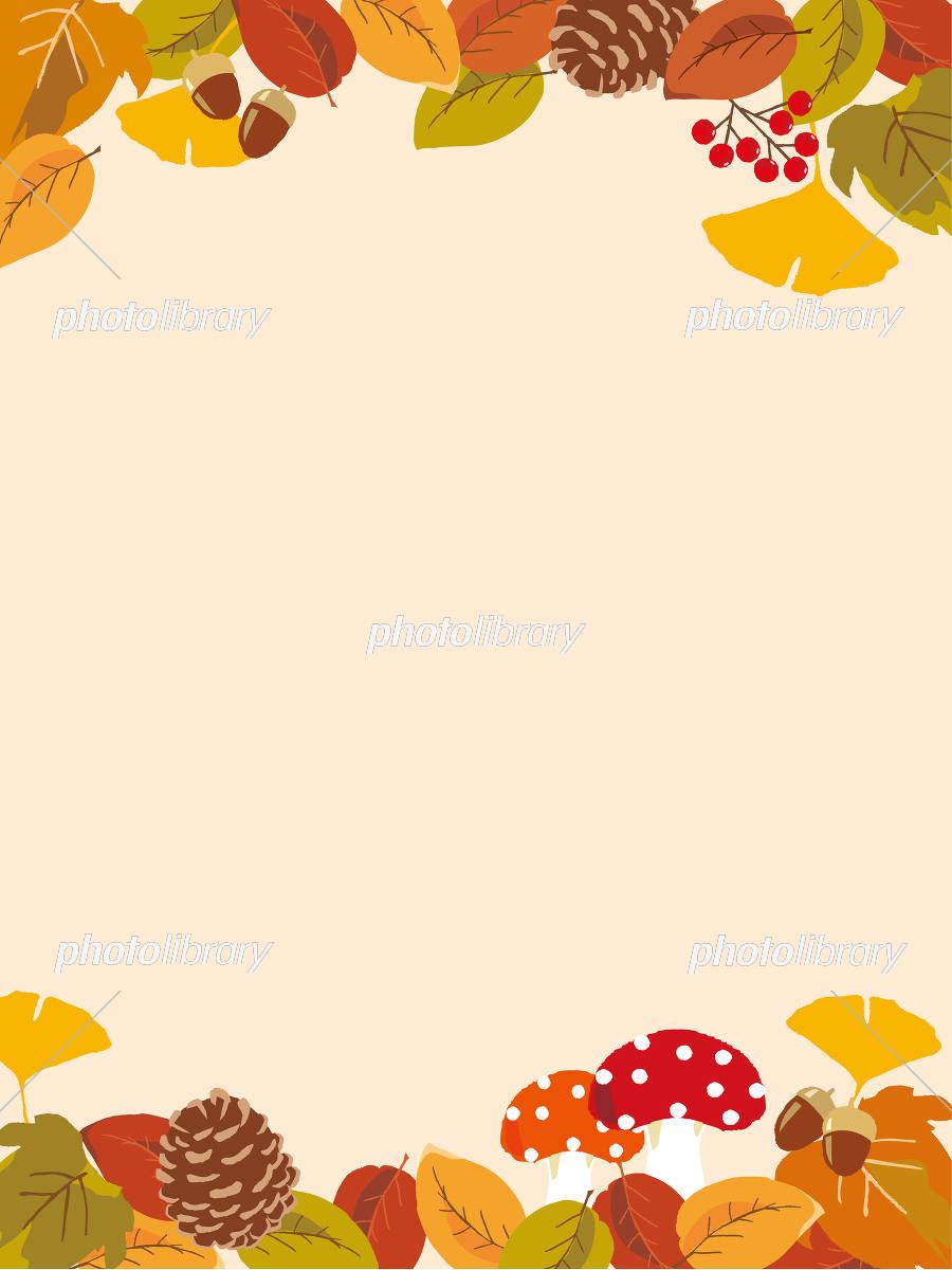 秋イメージ 背景イラスト イラスト素材 [ 5183826 ] - フォトライブ