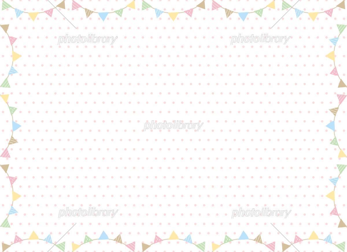 手書き フラッグ フレーム イラスト素材 [ 5191298 ] - フォトライブ