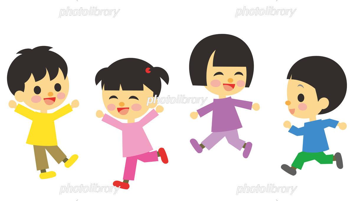 遊んでいる子供 イラスト素材 [ 5191469 ] - フォトライブラリー