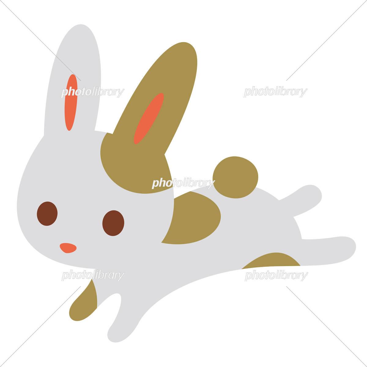 ウサギ ぶち模様 イラスト素材 5191476 フォトライブラリー