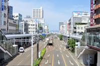 長岡駅前大手通りの街並み