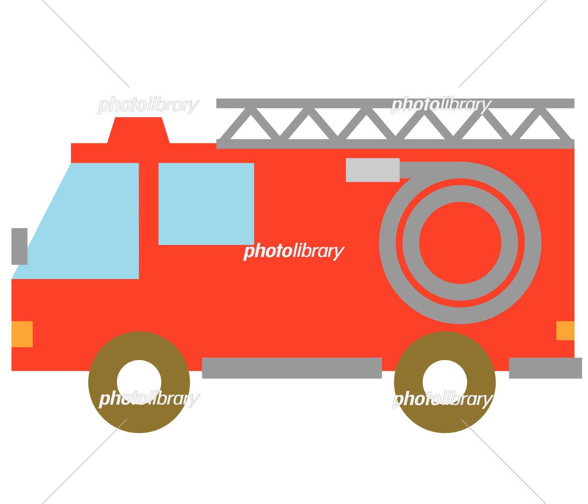 消防車 イラスト素材 1771651 フォトライブラリー Photolibrary