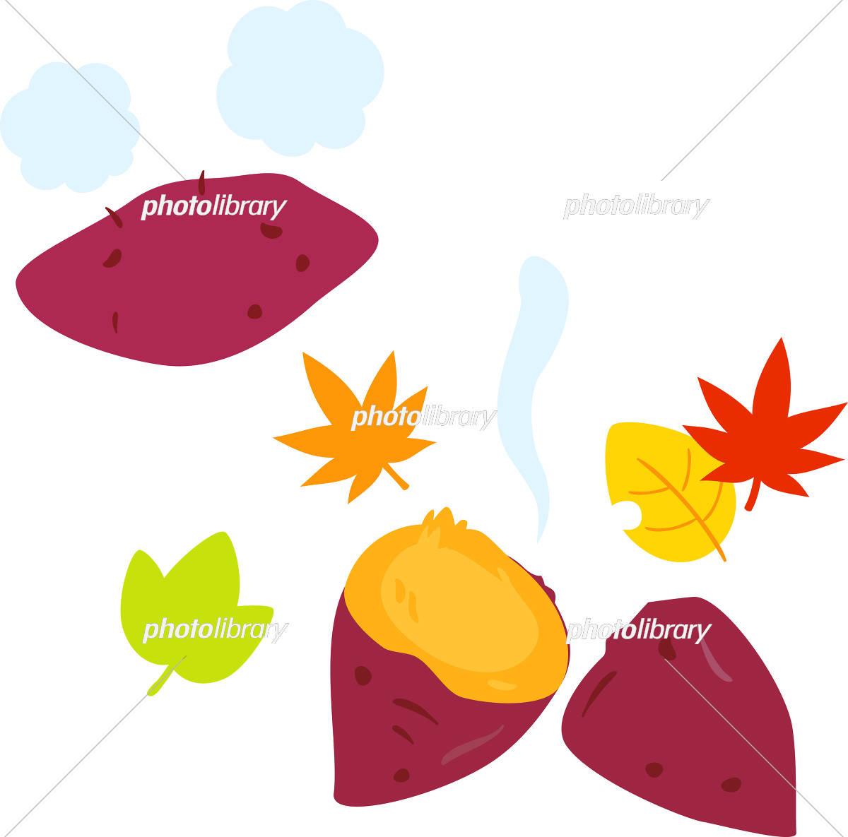 焼き芋と紅葉 イラスト素材 5289373 フォトライブラリー