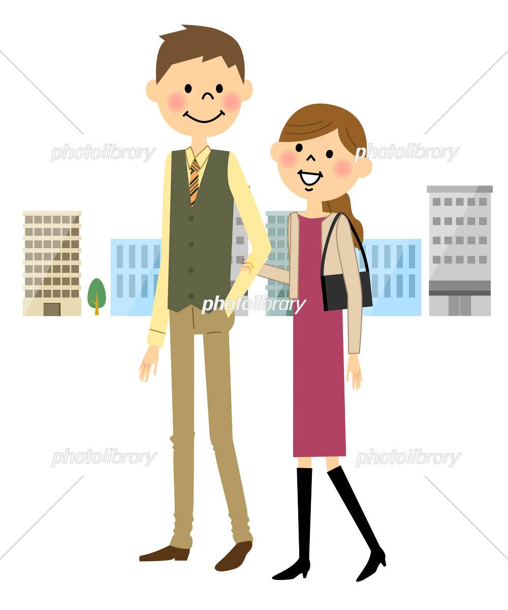 デートするカップル イラスト素材 [ 5290272 ] - フォトライブラリー