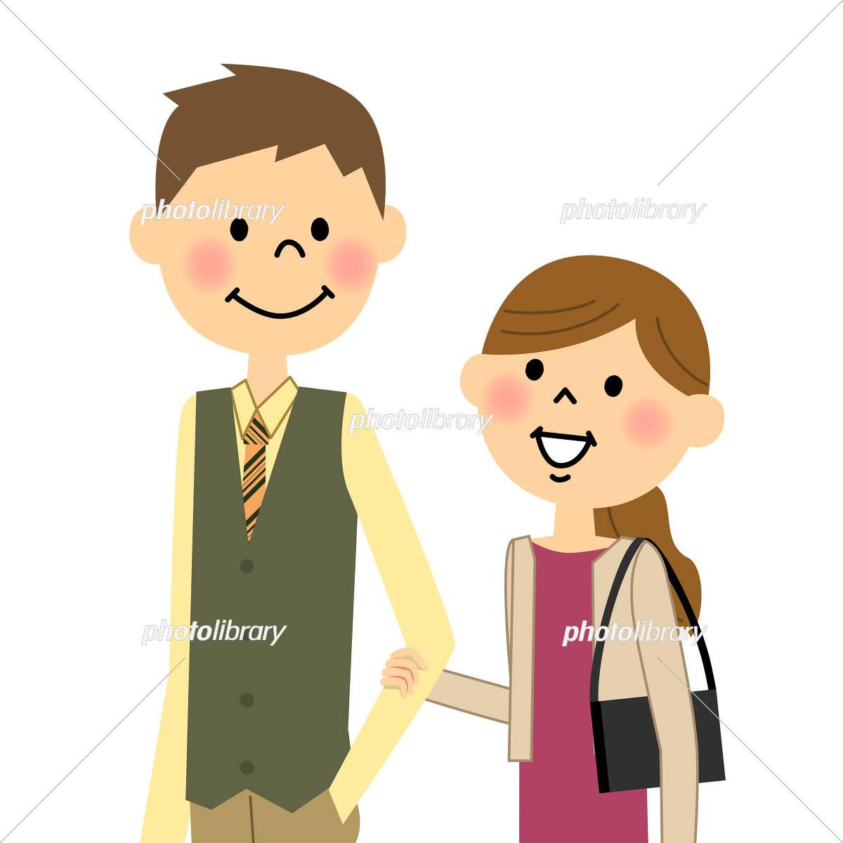 デートするカップル イラスト素材 [ 5290274 ] - フォトライブラリー