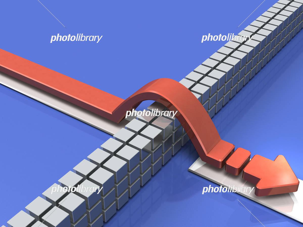障害物を乗越えるコンセプトイメージ イラスト素材 [ 5367773 ...