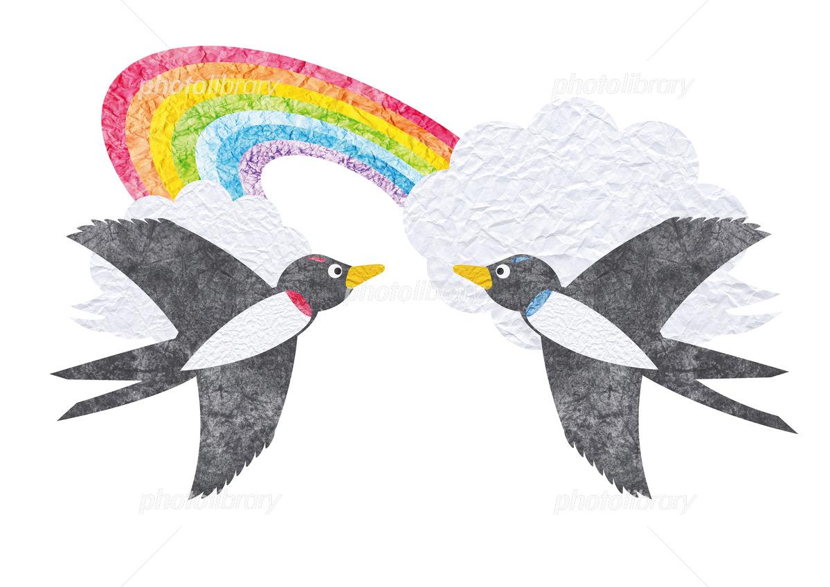 空とカモメのカップル 合成 写真素材 [ 2533363 ] - フォトライブラリー