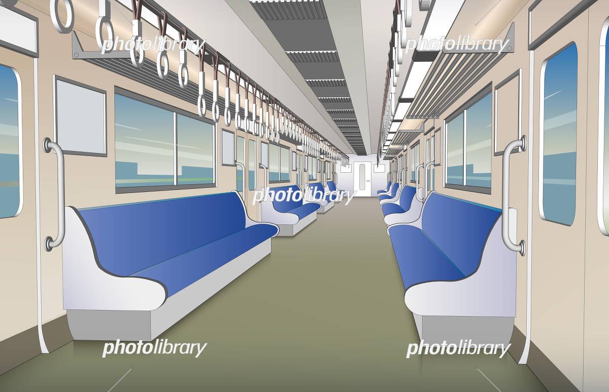 電車の車内 イラスト素材 5371640 フォトライブラリー Photolibrary