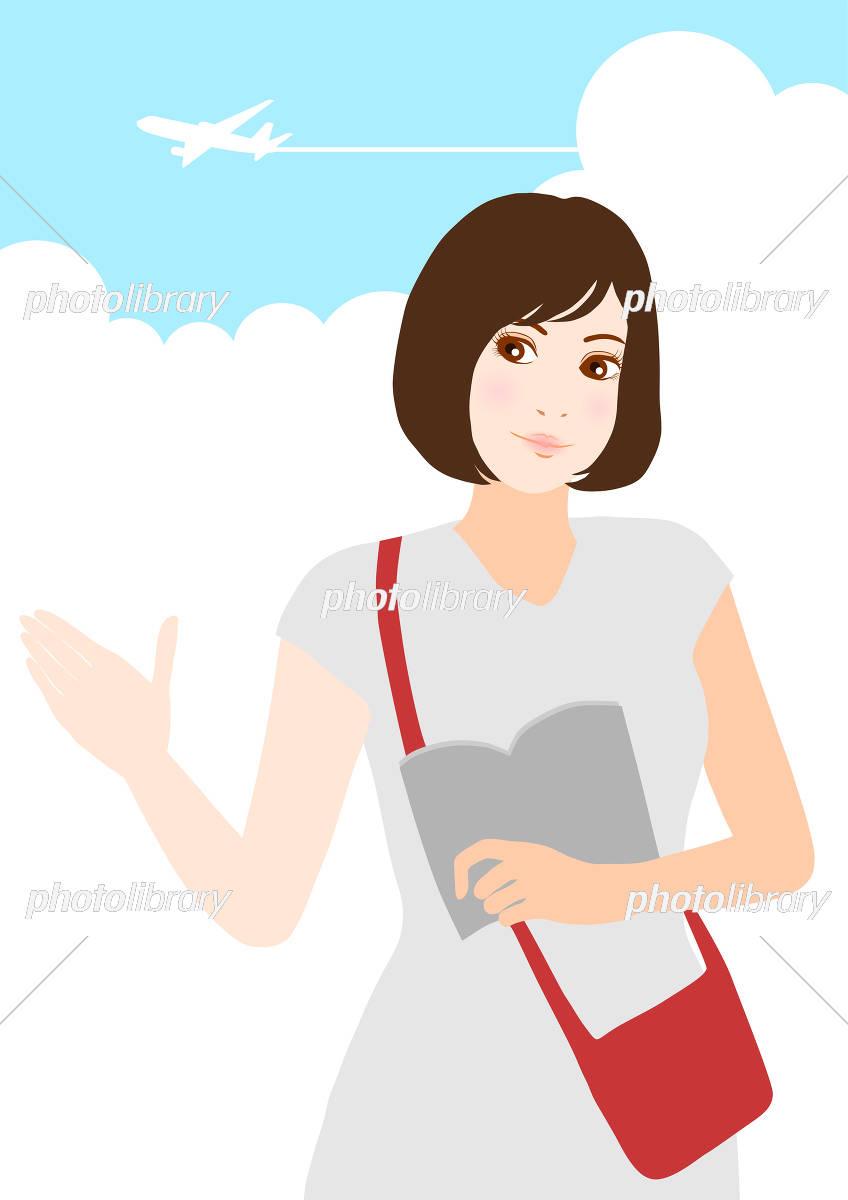 旅行 女性と本 イラスト イラスト素材 [ 5371686 ] - フォトライブ