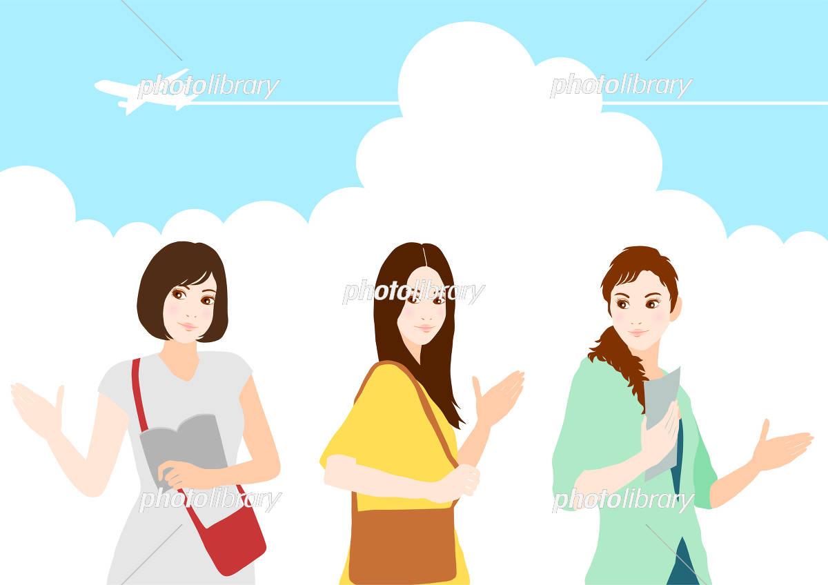 旅行 女性たち イラスト イラスト素材 [ 5371688 ] - フォトライブラリー