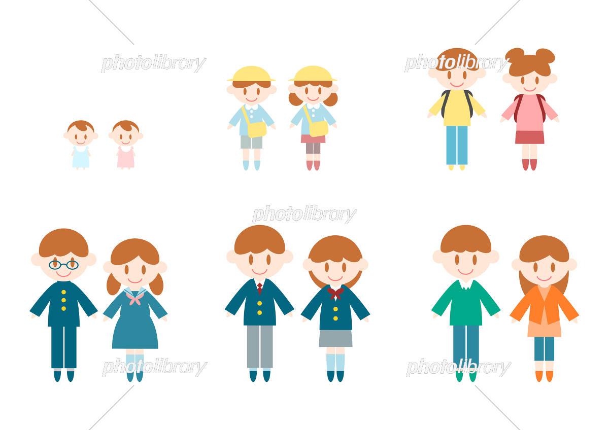 子供 成長 アイコン イラスト イラスト素材 [ 5371713 ] - フォトライブ