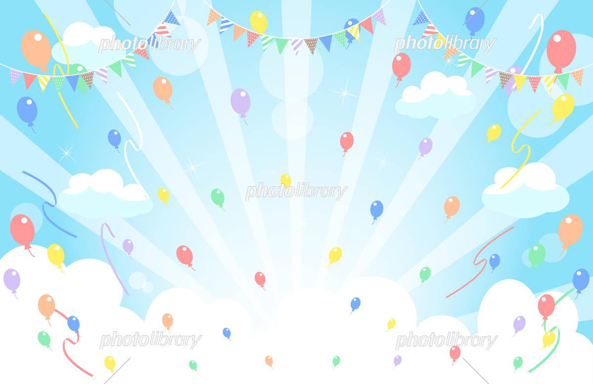 Aozora Garland Balloon イラスト素材