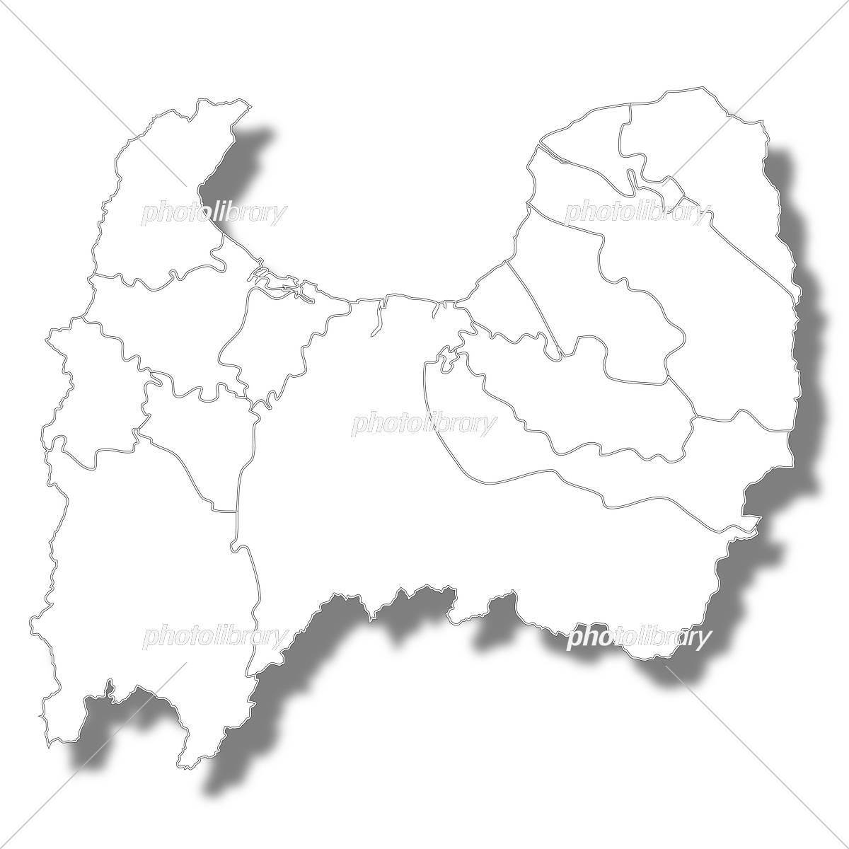富山 地図 イラスト素材 5429705 フォトライブラリー Photolibrary