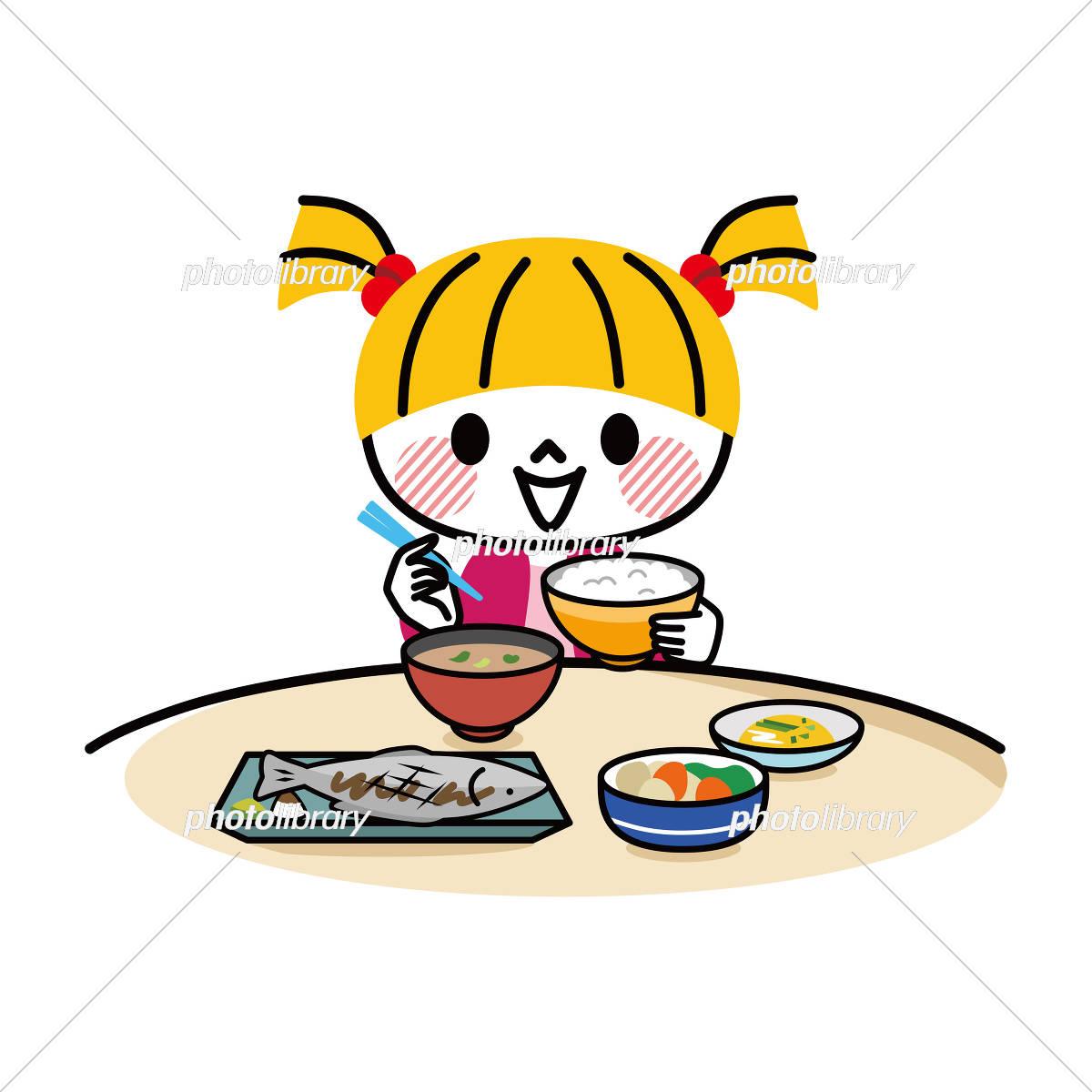 子供 食事 和食 イラスト素材 [ 5429932 ] - フォトライブラリー