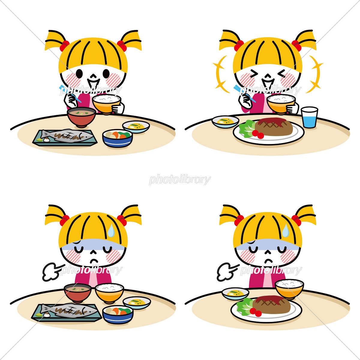 子供 食事 セット イラスト素材 [ 5429946 ] - フォトライブラリー