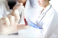 Medical image blood test injection