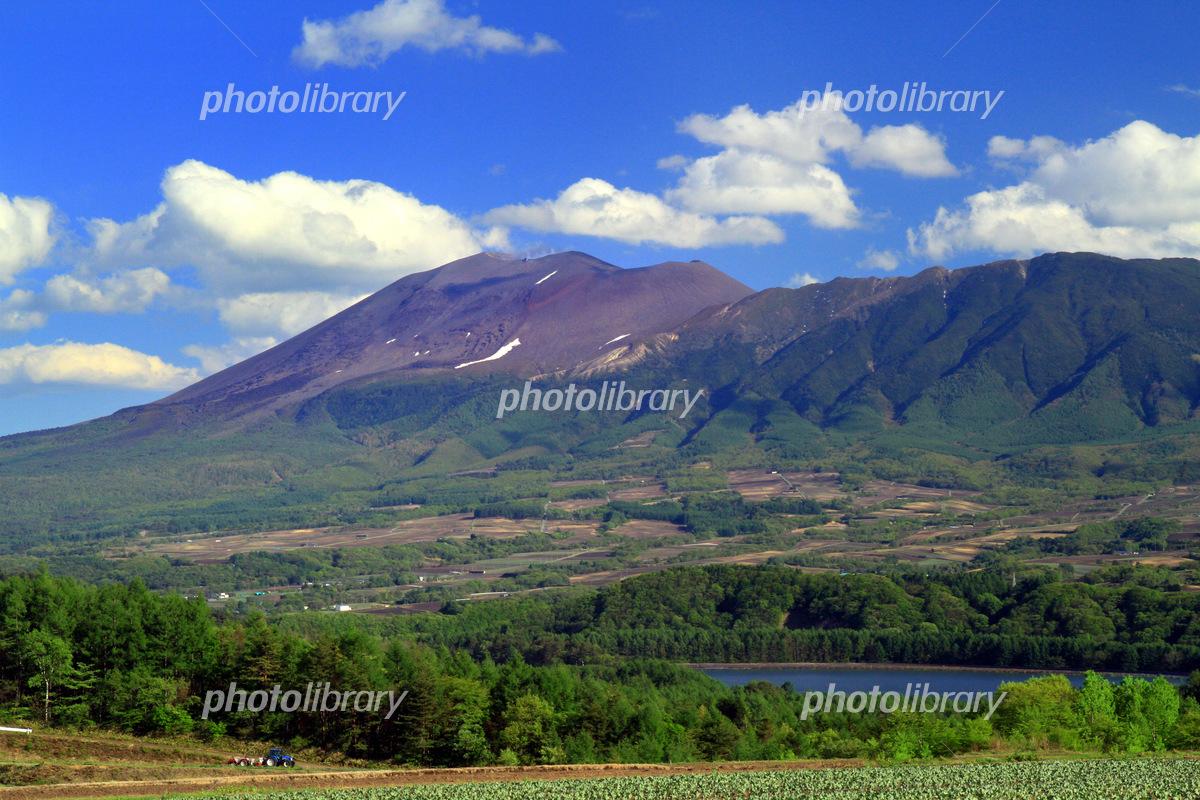 田代湖と浅間山 写真素材 [ 5461...