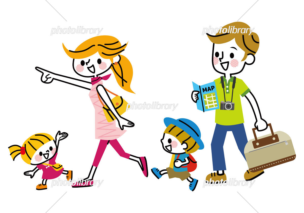 家族 旅行 お出かけ イラスト素材 5461208 フォトライブラリー