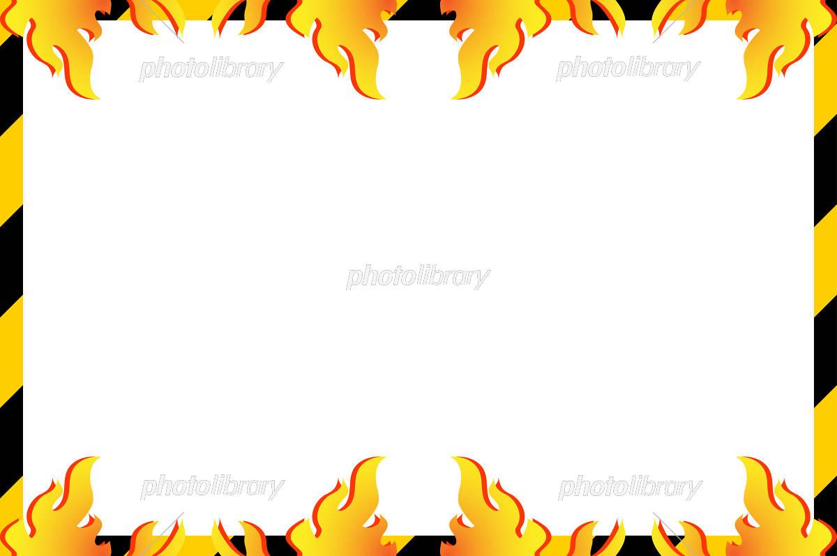 工事フレーム 炎 イラスト素材 5462529 フォトライブラリー