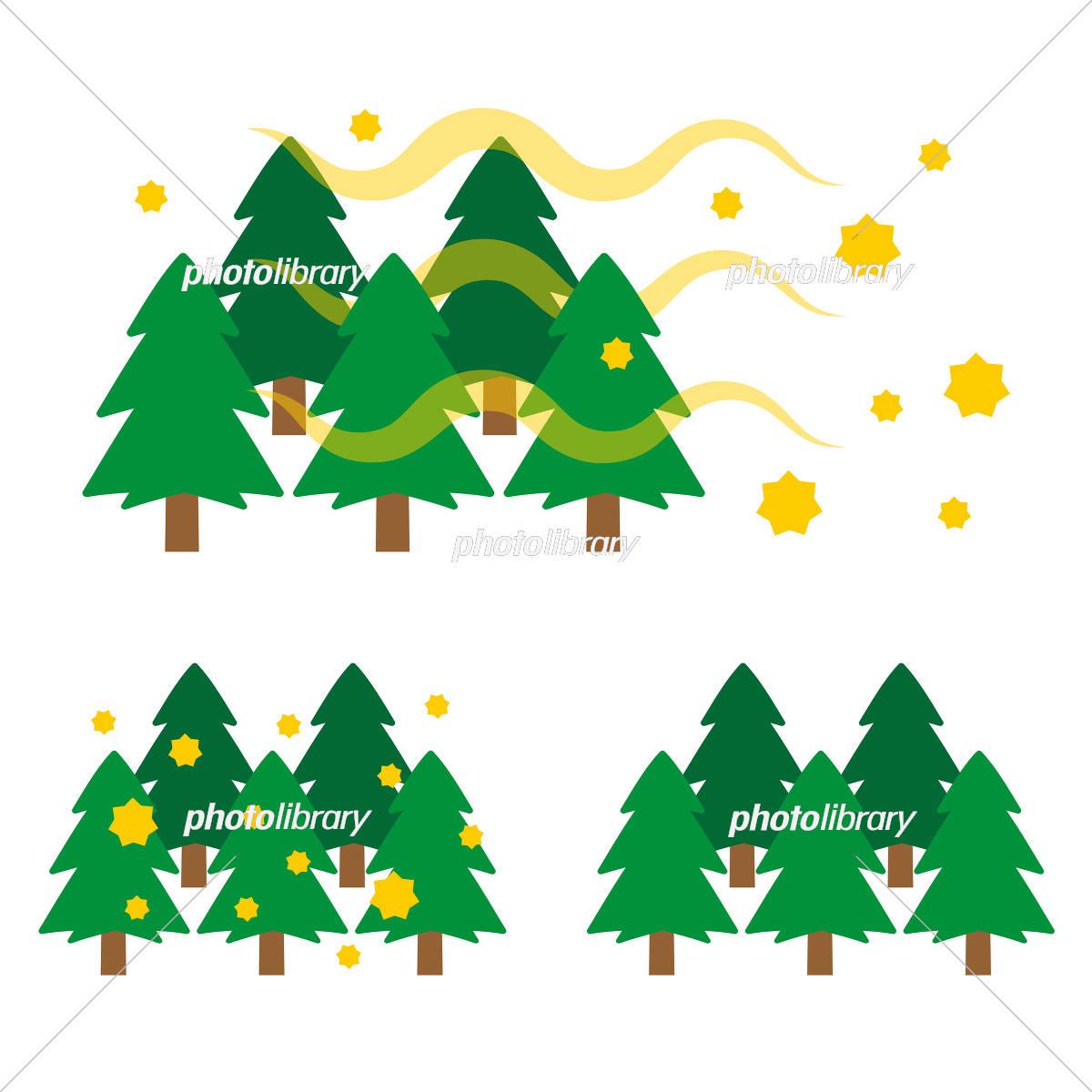 Cedar pollen tree イラスト素材