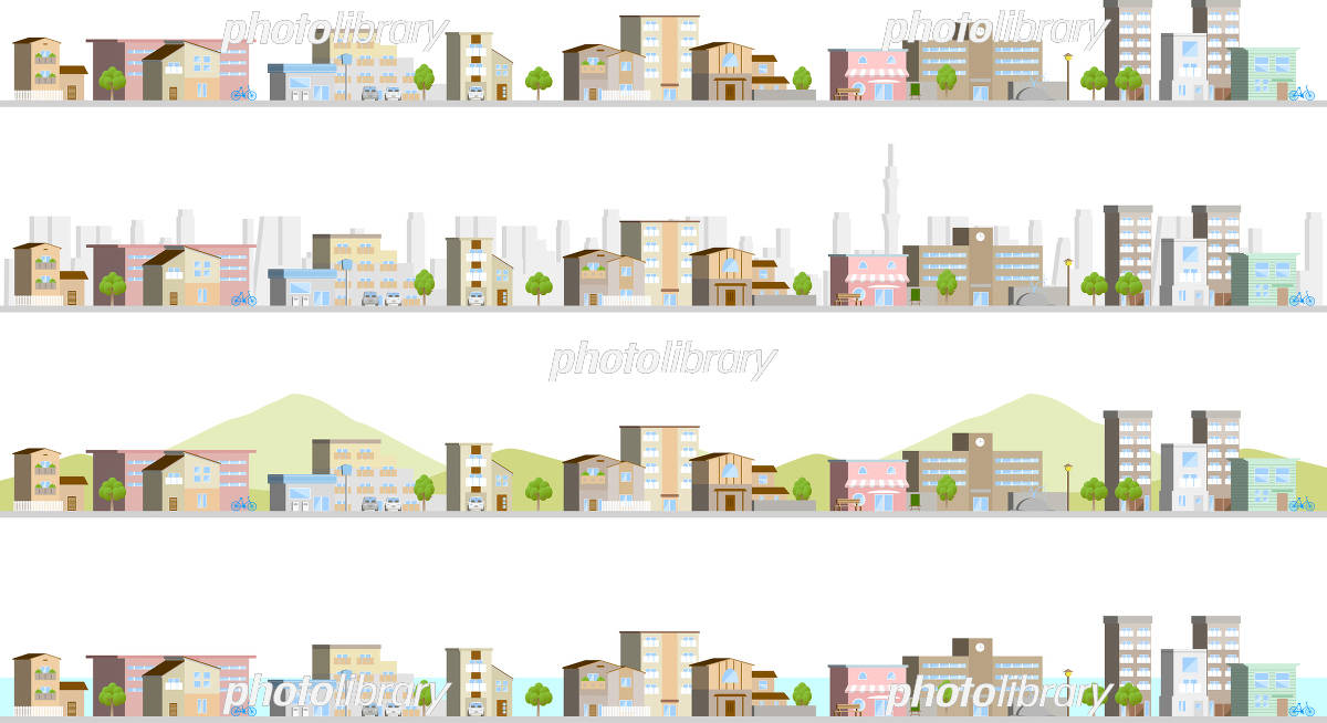 Townscape 3D イラスト素材