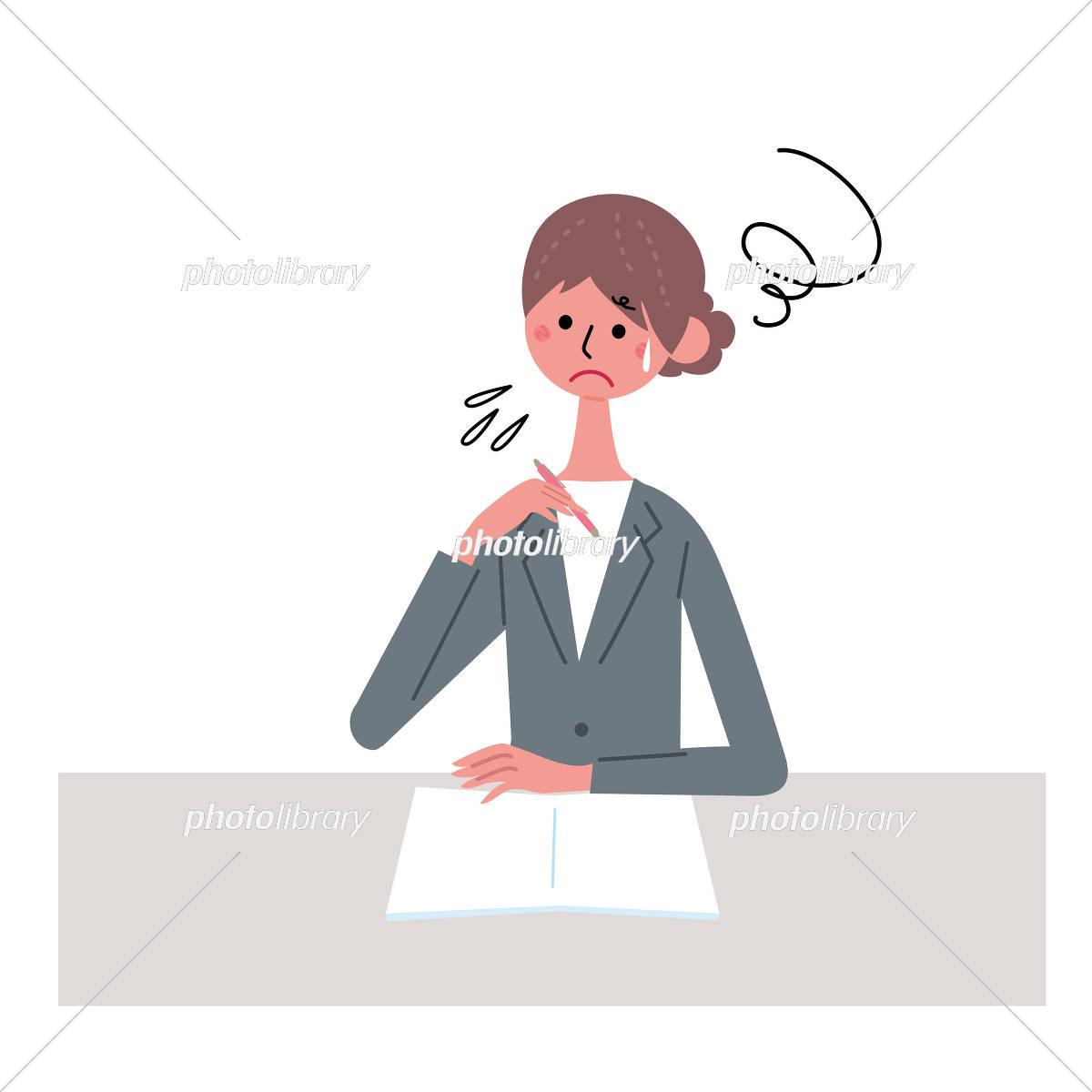 書類を書く 女性 イラスト イラスト素材 5466532 フォトライブ