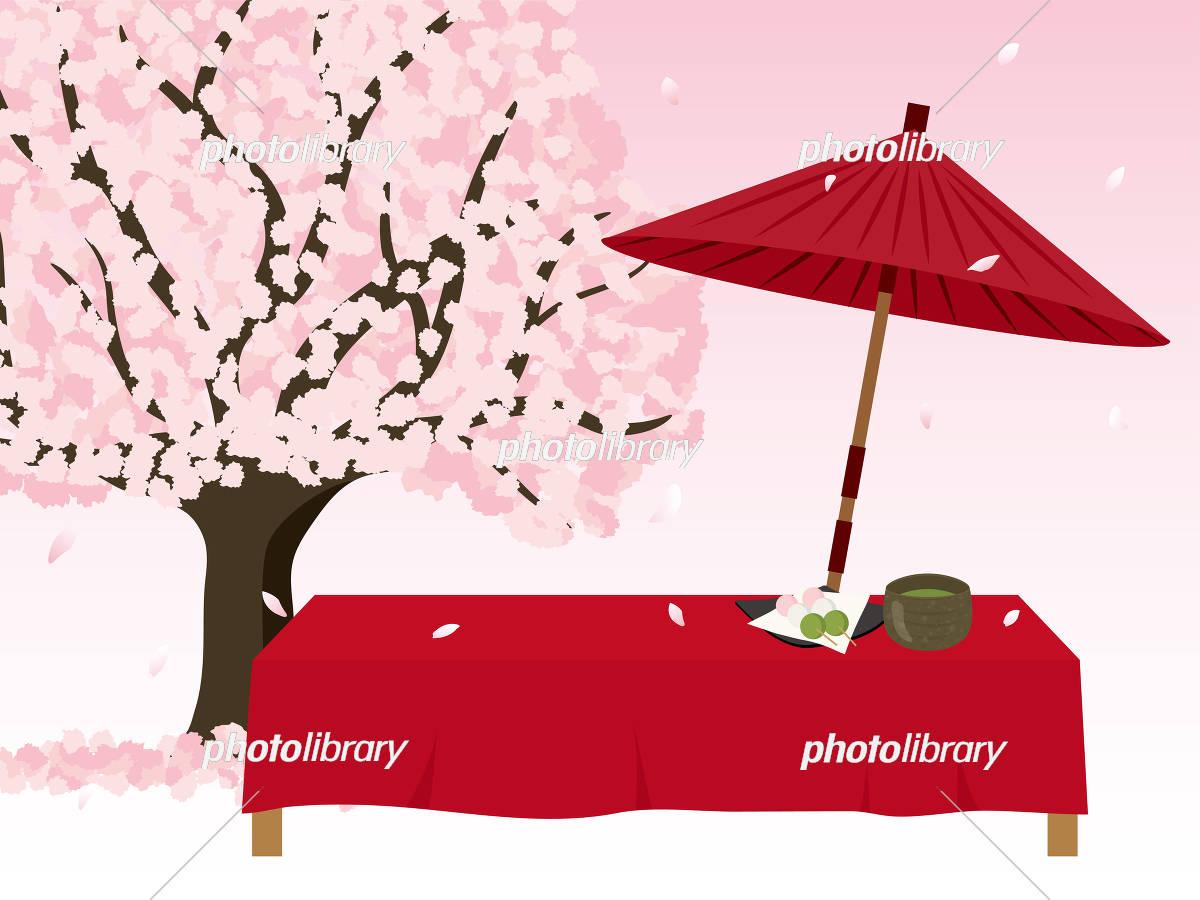 春の茶屋 桜の木 イラスト素材 5467254 フォトライブラリー