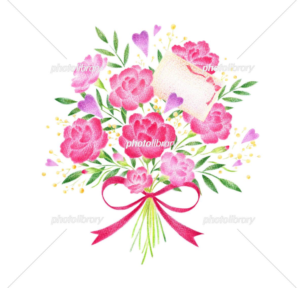 母の日 花束 カード イラスト素材 [ 5493762 ] - フォトライブラリー photolibrary