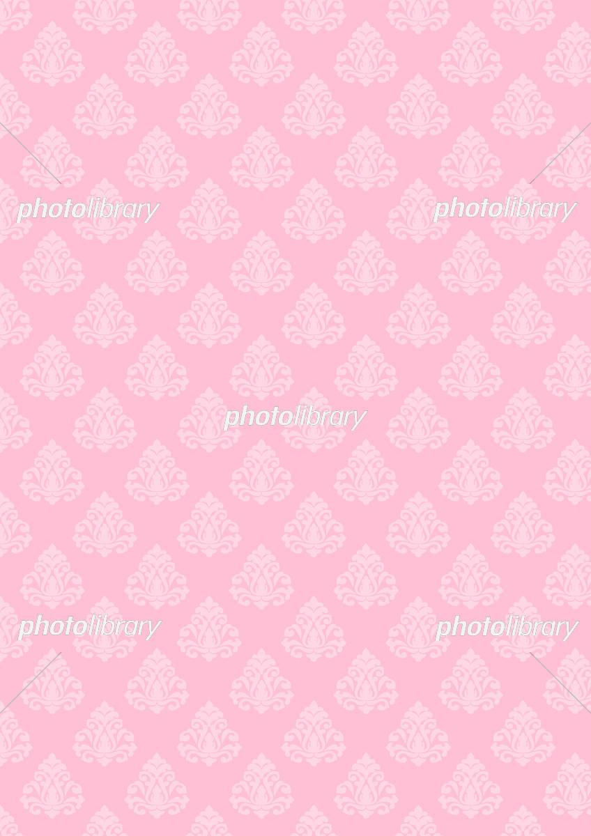 ダマスク 柄 壁紙 ピンク イラスト素材 5494522 フォトライブ