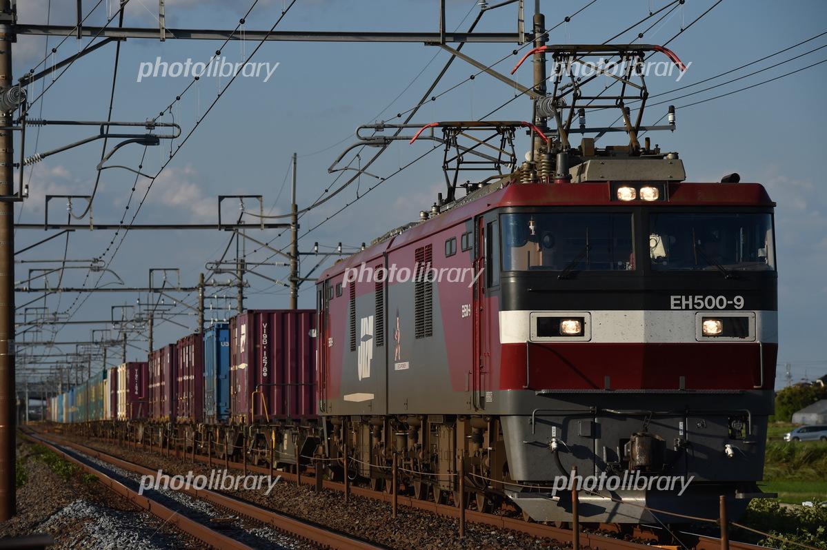 東北本線 EH500牽引 コンテナ貨物列車の写真