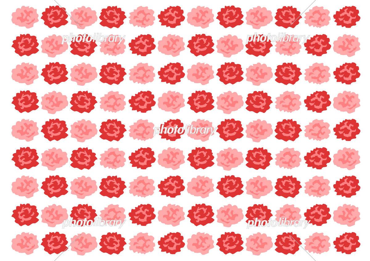 カーネーション 赤 イラスト 模様 背景 イラスト素材 5500376
