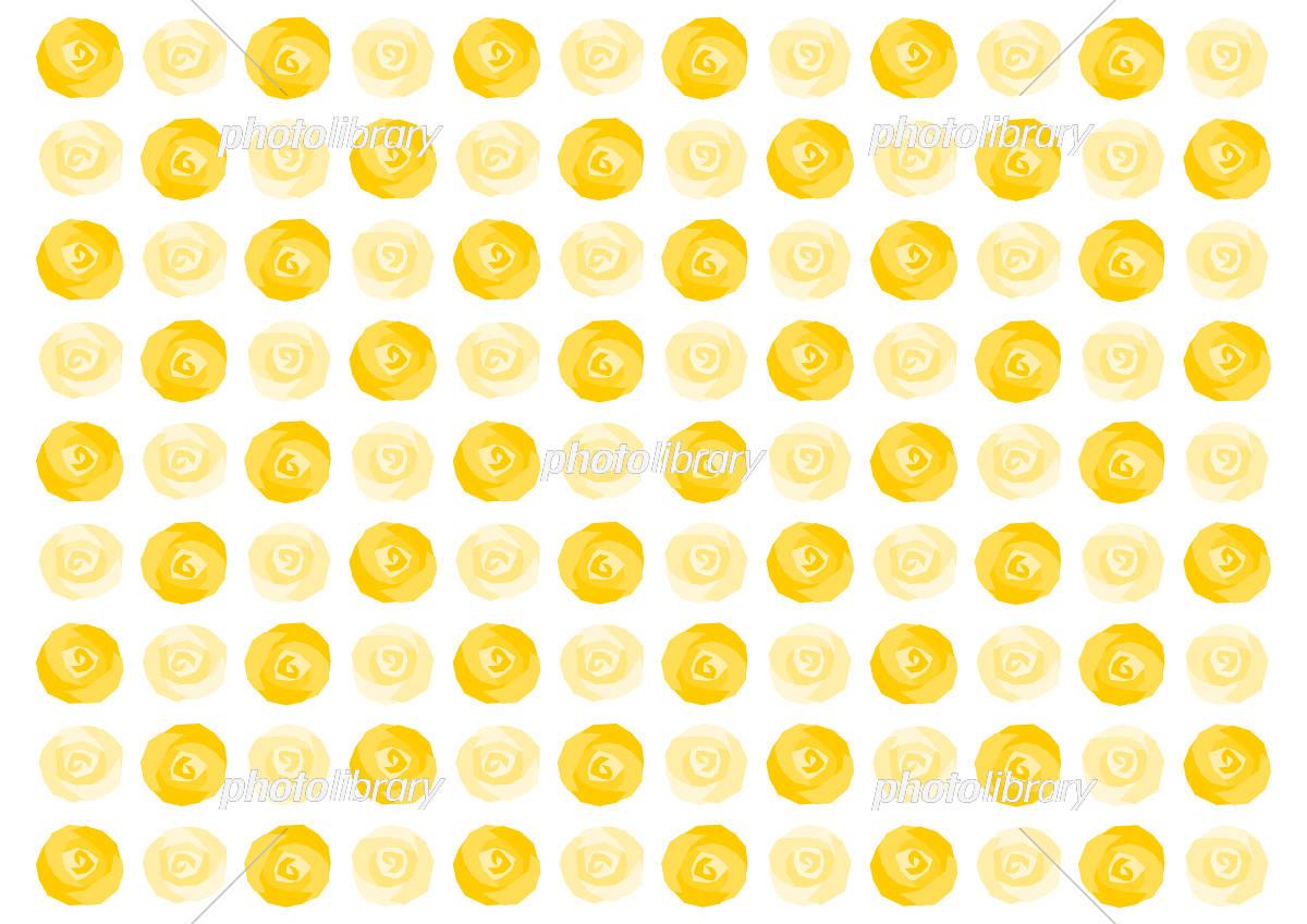 バラ 黄色 イラスト 模様 背景 イラスト素材 [ 5500378 ] - フォトライブ