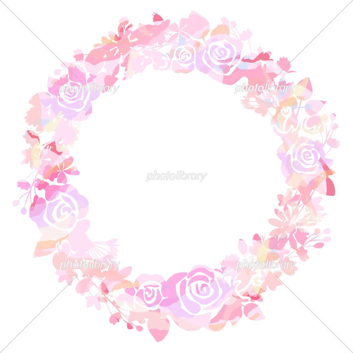 ピンクのグラデーションリース イラスト素材 5500956 フォトライブ