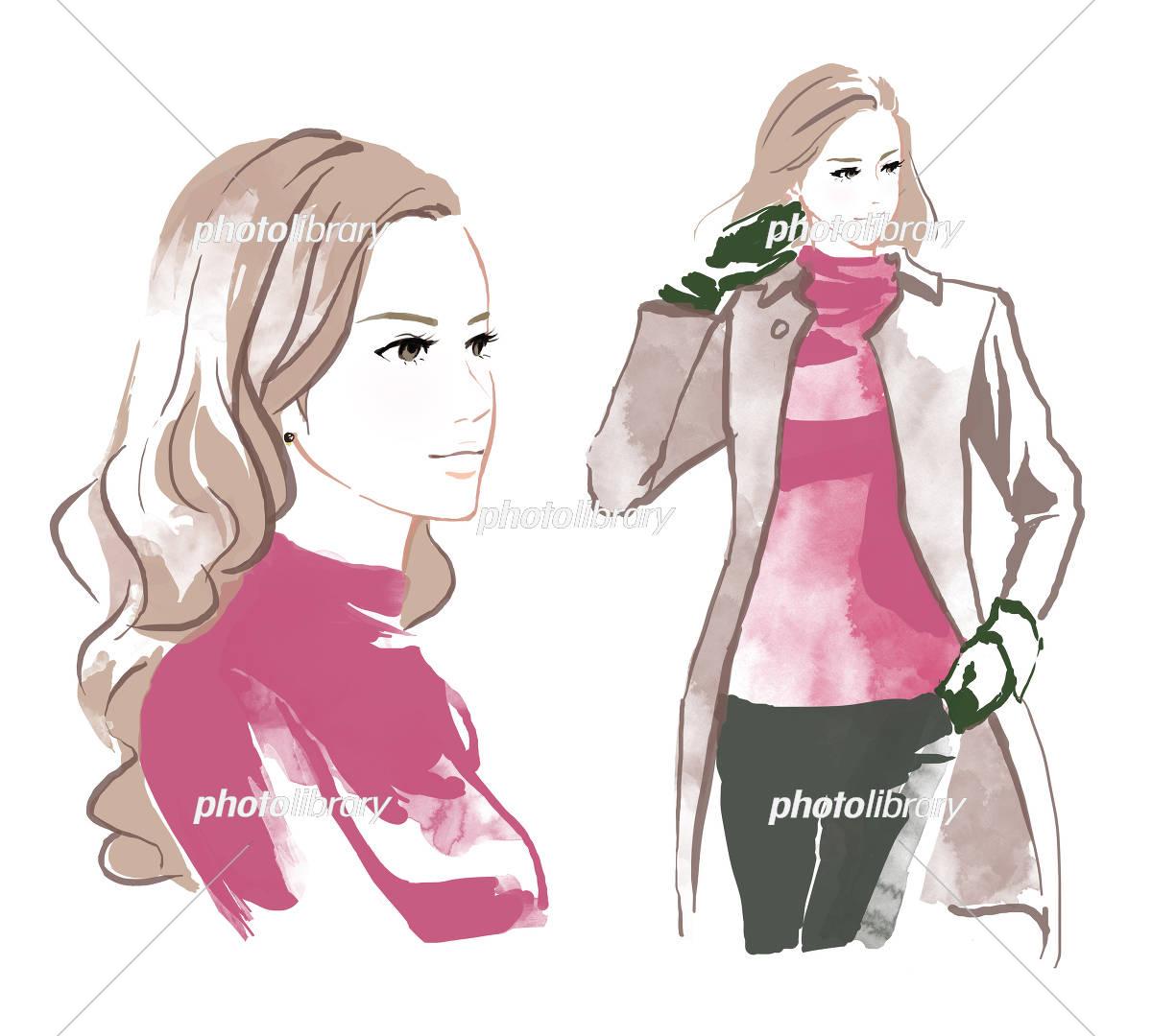 綺麗な女性 イラスト素材 5527976 フォトライブラリー Photolibrary