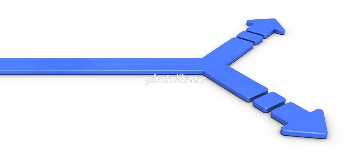 分岐点を表すアブストラクト3DCGイラスト イラスト素材 [ 5528901 ...