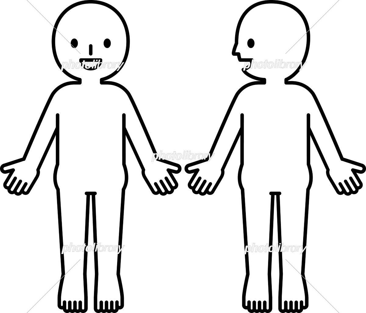 人体のシンプルな図 イラスト素材 [ 5529528 ] - フォトライブラリー
