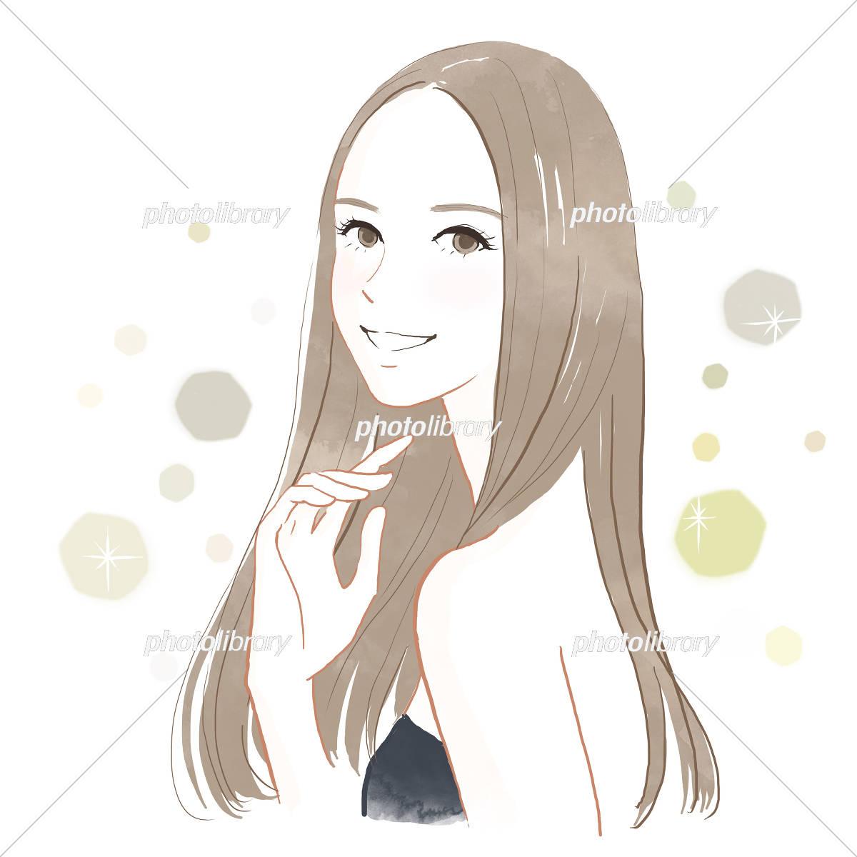 髪の綺麗な女性 イラスト素材 5530060 フォトライブラリー
