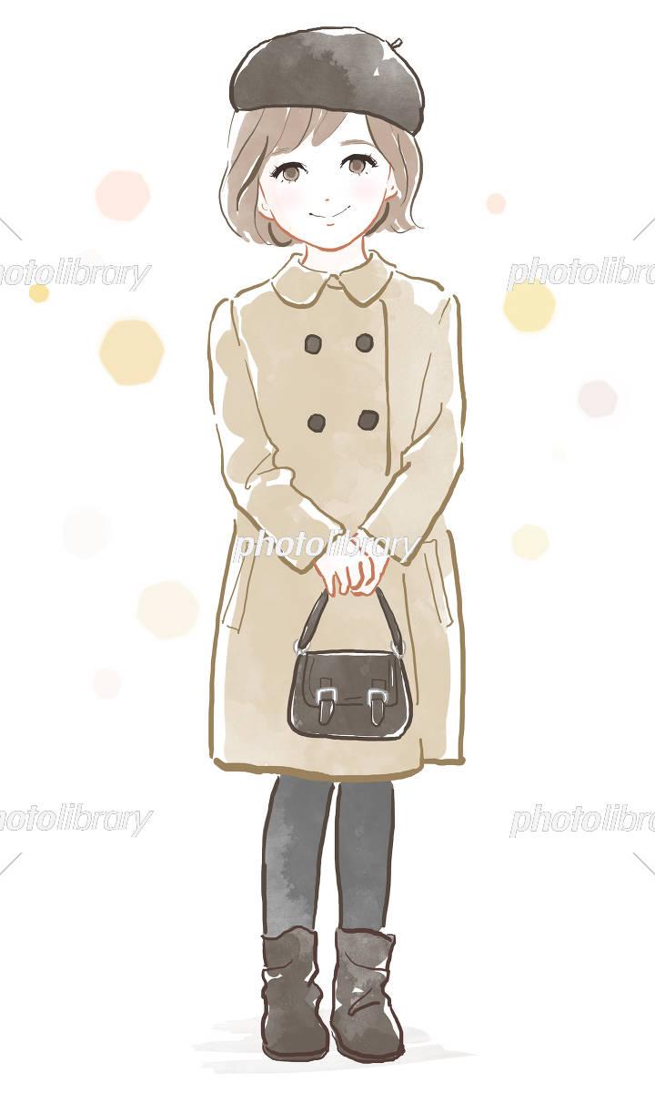 おしゃれな女の子 イラスト素材 [ 5530079 ] - フォトライブラリー