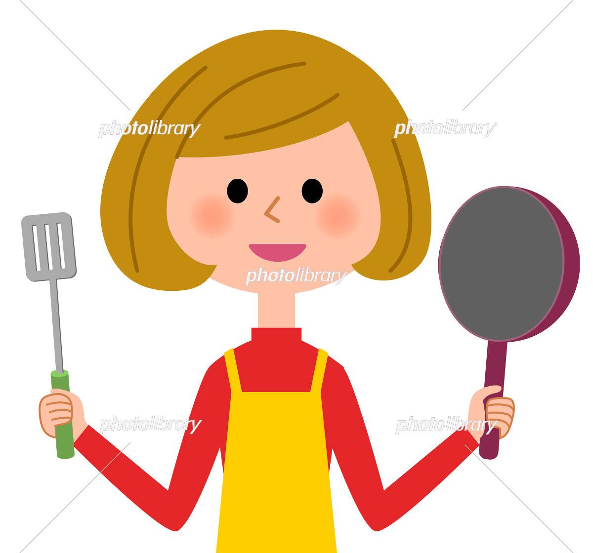 エプロンの女性 料理 イラスト素材 5534767 フォトライブラリー