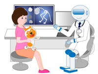 An artificial intelligence robot A pet dog that is consulted from a veterinarian A