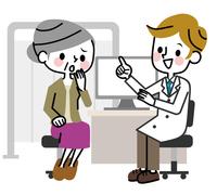 Medical examination senior women Consultation