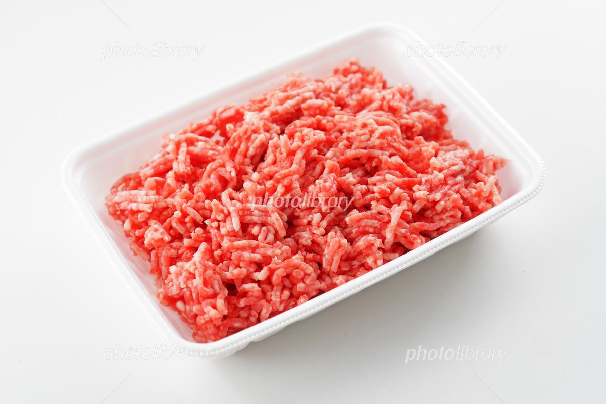 合い挽き肉 ミンチ 写真素材 [ 5...
