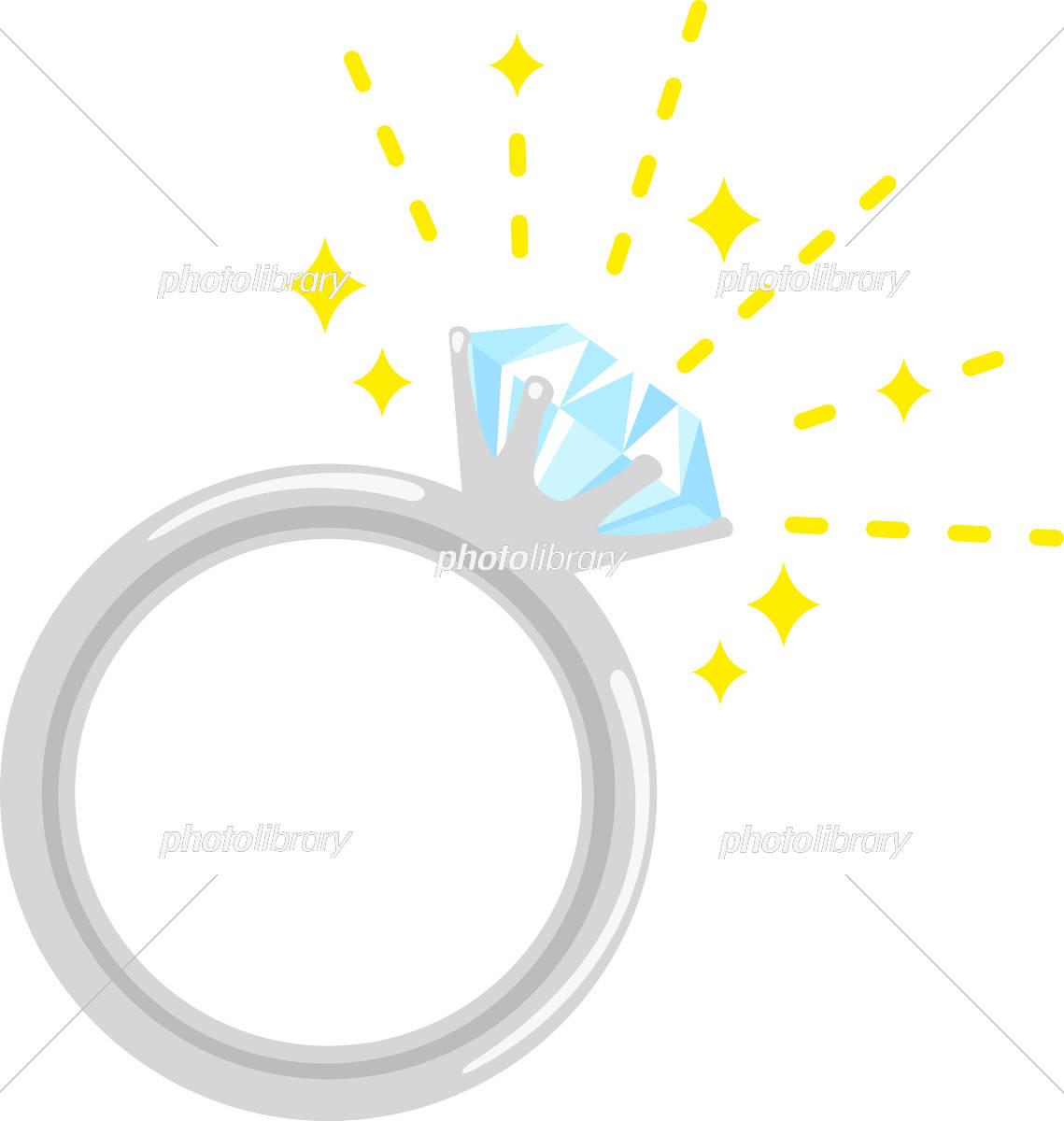 ダイヤモンドの指輪 イラスト素材 5566408 フォトライブラリー